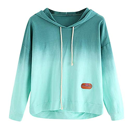 43c34f2ed5b7b6 MEIbax Frauen Hoodie Gedruckt Patchwork Sweatshirt Damen Langarm Pullover  Tops Bluse Oberteile Casual Tunika